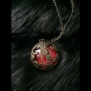 Beauty and The Beast bronze colored Necklace